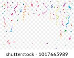 many falling tiny confetti and... | Shutterstock .eps vector #1017665989