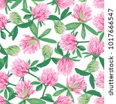 floral seamless pattern with... | Shutterstock .eps vector #1017666547