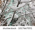 russian winter and snow | Shutterstock . vector #1017667051