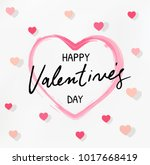 happy valentines day typography ... | Shutterstock .eps vector #1017668419