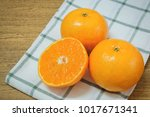 fresh ripe whole and cross...   Shutterstock . vector #1017671341