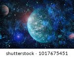 galaxy in space  beauty of... | Shutterstock . vector #1017675451