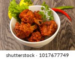 indian traditional cuisine  ... | Shutterstock . vector #1017677749