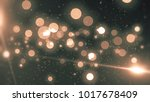 abstract gold bokeh circles on... | Shutterstock . vector #1017678409