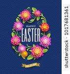 easter greeting card   easter...   Shutterstock .eps vector #1017681361