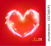 beautiful digital love and...   Shutterstock .eps vector #101768191