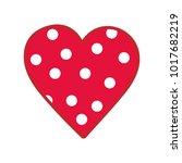 heart icon. vector illustration ... | Shutterstock .eps vector #1017682219