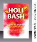holi  indian festival  | Shutterstock .eps vector #1017682819