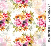 floral seamless pattern....   Shutterstock . vector #1017683737