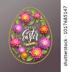 easter greeting card   easter... | Shutterstock .eps vector #1017685147