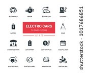 electro cars   line design... | Shutterstock .eps vector #1017686851