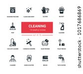 cleaning   line design... | Shutterstock .eps vector #1017686869