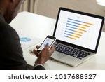 african american businessman... | Shutterstock . vector #1017688327