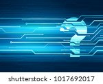 abstract digital concept... | Shutterstock . vector #1017692017