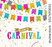 carnival flags garlands ... | Shutterstock .eps vector #1017693031