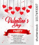 valentines day flyer  14... | Shutterstock .eps vector #1017693307