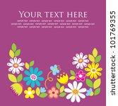 cute frame design. vector... | Shutterstock .eps vector #101769355