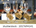 crystal wine glasses  | Shutterstock . vector #1017694141