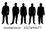 vector isolated silhouette of... | Shutterstock .eps vector #1017695677