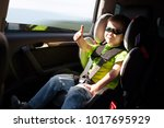 luxury baby car seat for safety ... | Shutterstock . vector #1017695929