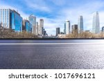 panoramic cityscape with empty... | Shutterstock . vector #1017696121