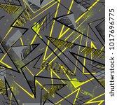 grunge geometric pattern for... | Shutterstock .eps vector #1017696775
