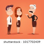 angry woman boss character... | Shutterstock .eps vector #1017702439
