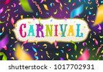 carnival type design in glitter ... | Shutterstock .eps vector #1017702931