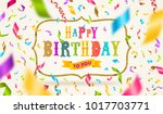happy birthday greeting with... | Shutterstock .eps vector #1017703771