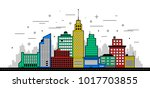 modern city illustration.... | Shutterstock .eps vector #1017703855