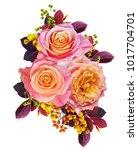 floral background.bouquet ... | Shutterstock . vector #1017704701