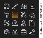 construction line icons. modern ... | Shutterstock .eps vector #1017705691