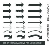 different black arrows icons ... | Shutterstock .eps vector #1017706924