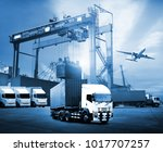 transportation  import export... | Shutterstock . vector #1017707257