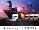 transportation  import export...   Shutterstock . vector #1017707275