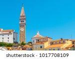 piran  slovenia  europe. city...   Shutterstock . vector #1017708109