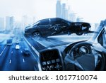electric car or intelligent car.... | Shutterstock . vector #1017710074