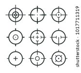 different icon set of targets... | Shutterstock .eps vector #1017711319