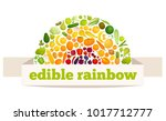 vector rainbow made from fruits ... | Shutterstock .eps vector #1017712777