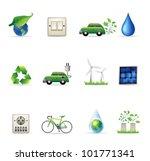 environment  icon set.... | Shutterstock .eps vector #101771341