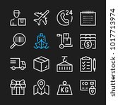 delivery line icons. modern... | Shutterstock .eps vector #1017713974