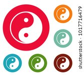 ying yang symbol of harmony and ... | Shutterstock .eps vector #1017716479