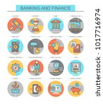 banking and finance. set of... | Shutterstock .eps vector #1017716974