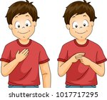 illustration of a kid boy... | Shutterstock .eps vector #1017717295