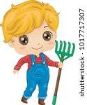 illustration of a kid boy... | Shutterstock .eps vector #1017717307