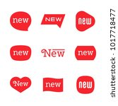 new tag icon  label ang sticker | Shutterstock .eps vector #1017718477