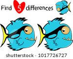 find five differences.... | Shutterstock .eps vector #1017726727