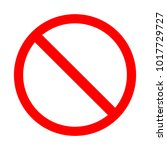 blank prohibiting sign is a red ... | Shutterstock .eps vector #1017729727