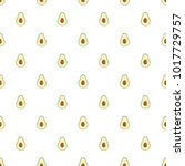 avocado pattern seamless. flat... | Shutterstock .eps vector #1017729757