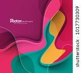 vector abstract design... | Shutterstock .eps vector #1017730309